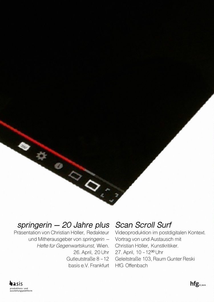 Plakat scan scroll surf hoeller
