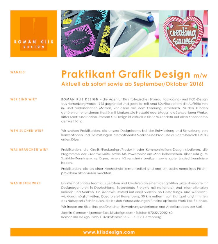 Graphic Design Studium | Hfg Offenbach Praktikant Grafik Design M W