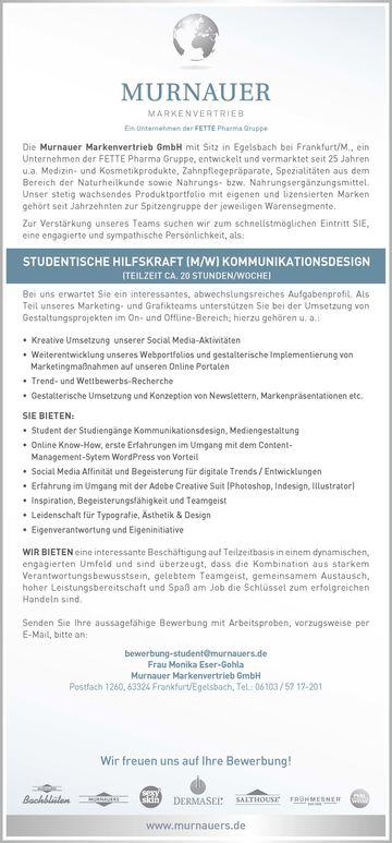 hfg offenbach studentische hilfskraft mw kommunikationsdesign - Studentische Hilfskraft Bewerbung