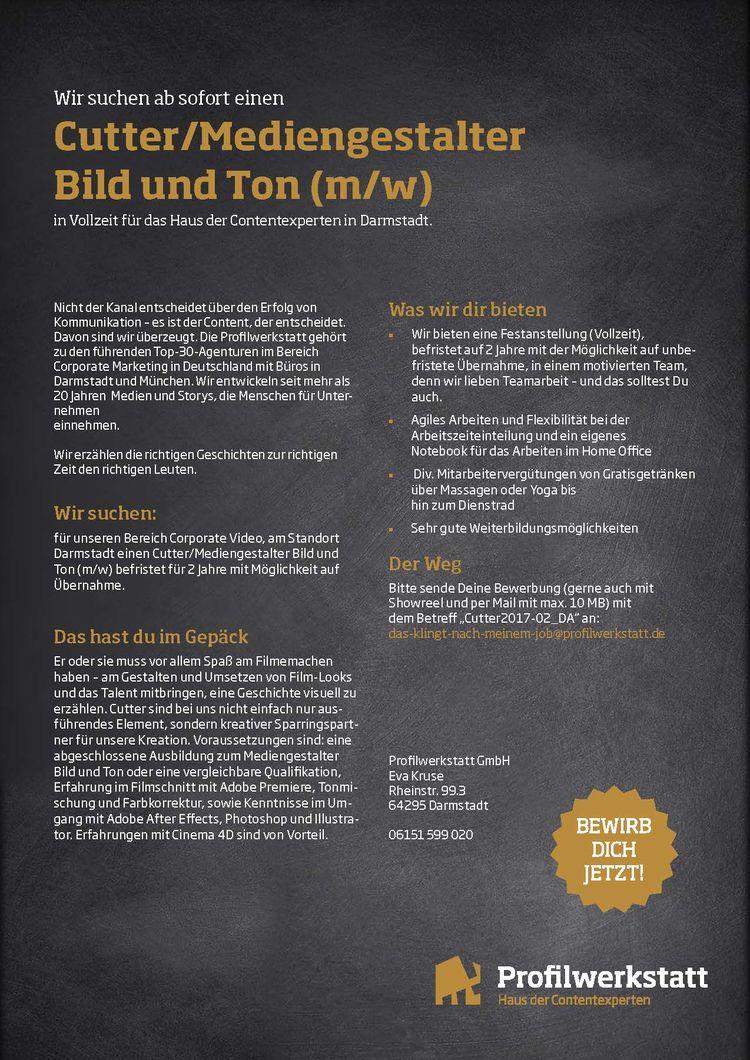 Hfg Offenbach Cuttermediengestalter Bild Und Ton Mw