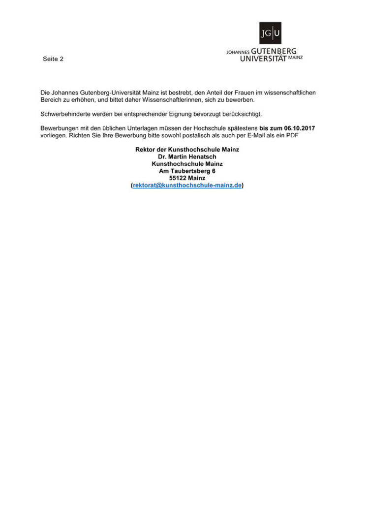 kunstdidaktik khs w2 zi 2 - Uni Mainz Bewerbung