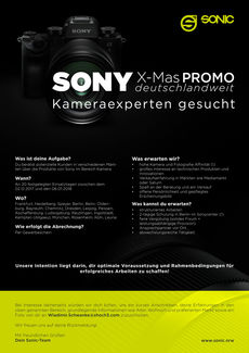 Sony x mas promotion aushang sonic sales support