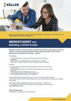 Kg werkstudent marketing extern