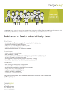 Praktikum industrialdesign print 2017