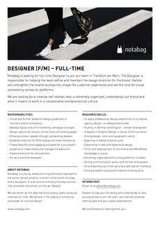 Notabag designer position