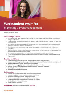 Werkstudent marketing